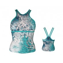 A-Game Camo Under Current Ultra Marine Blue Swimsuit- Tankini Top
