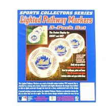 MLB Licensed 3pk Lighted Pathway Markers (New York Mets)
