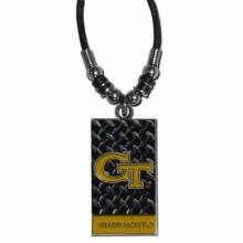 Georgia Tech Yellow Jackets Diamond Plate Rope Necklace, 20-Inch