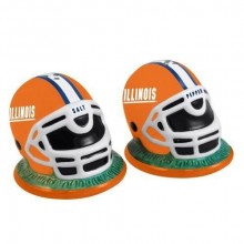 Illinois Fignting Illini Helmet Salt and Pepper Shakers