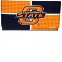 NCAA Officially Licensed Houndstooth Tri-Fold Wallet Clutch (Oklahoma State University Cowboys)