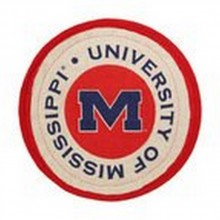 """NCAA Officially Licensed University of Mississippi """"Ole Miss Rebels"""" Quilted Collegiate Hot Pad (Pot Holder)"""