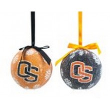 NCAA Licensed Oregon State Beavers LED Light-up Ornament Set of 2