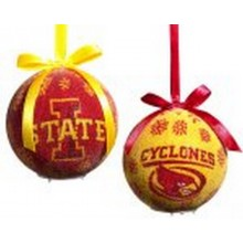 NCAA Licensed Iowa State Cyclones LED Light-up Ornament Set of 2