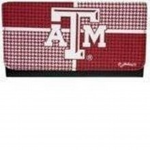 NCAA Officially Licensed Texas A&M Houndstooth Tri-Fold Wallet Clutch
