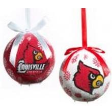 NCAA Licensed Louisville Cardinals LED Light-up Ornament Set of 2