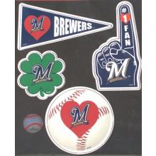 Milwaukee Brewers 4 Piece Team Magnet Set