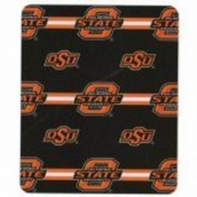 Oklahoma State Cowboys 3 Bar Repeater Fleece Throw Blanket