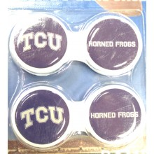 Texas Christian Horned Frogs Contact Lens Case 2 Pack
