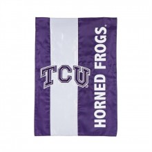 Texas Christian Horned Frogs Embellish Garden Flag