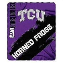 Texas Christian Horned Frogs Established Painted Fleece Throw