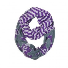Texas Christian Horned Frogs Striped 2 Tone Infinity Scarf