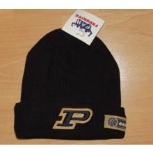Purdue Boilermakers Lined Tassle Beanie Hat