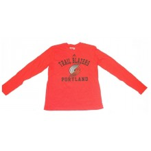NBA Officially Licensed Portland Trail Blazers YOUTH Red Long Sleeve T-Shirt