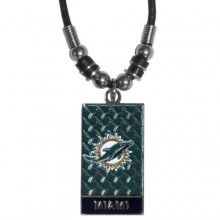 Miami Dolphins Diamond Plate Rope Necklace, 20-Inch