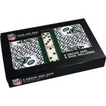 New York Jets 2 Packs of Playing Cards with Dice