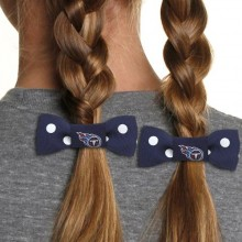 Tennessee Titans Bow Pigtail Holders