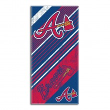 "Atlanta Braves  28"" x 58"" Striped Logo  Beach Towel"