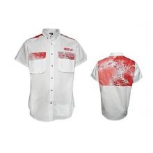 A-Game Camo Elixir Diversion Orange Short Sleeve Button Down Shirt