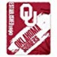 NCAA Officially Licensed Oklahoma University Sooners Paint Stripe Fleece Throw Blanket
