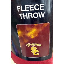 NCAA USC Trojans Large Logo Fleece Throw Blanket