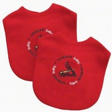MLB Officially Licensed lined 2-Pack Baby Bib (St. Louis Cardinals)