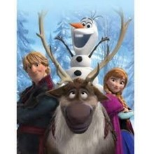 """Disney's Frozen """"Out in the Cold"""" Fleece Throw Blanket 50"""" X 60"""""""
