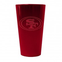 NFL Officially Licensed San Francisco 49ers 16 Oz Glitter Ice Pint Glass