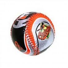 MLB Licensed Baltimore Orioles Orange and Black Metallic Logo Baseball
