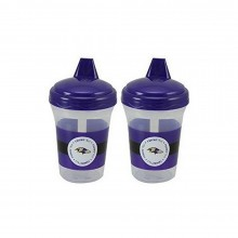 Baby Fanatic NFL Baltimore Ravens Baby Fanatic 2-Pack Sippy Cups