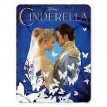 "Cinderella Royal Couple 46"" X 60"" Character Fleece Throw"