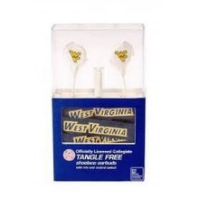 NCAA Licensed West Virginia Mountaineers Shoelace Earbuds