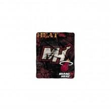 NBA Officially Licensed Miami Heat Royal Plush Raschel Fleece Throw Blanket