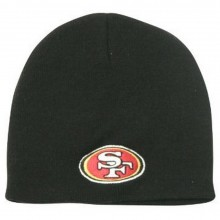 NFL Officially Licensed San Fransisco 49ers Basic Cuffless Beanie Hat Cap