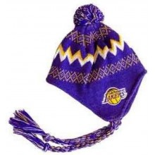 LA Lakers Licensed INFANT (2-4 yrs) Pom Tassel Beanie (Purple)