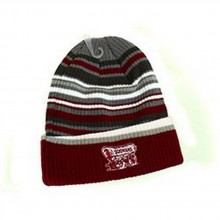 NCAA Officially Licensed Oklahoma University Striped Landscape Cuffed Beanie