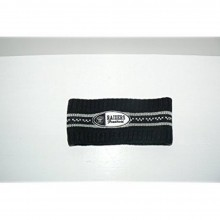 NFL Oakland Raiders Ribbed Stripe Embroidered Headband Sweatban