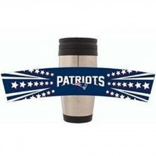 New England Patriots 15 oz Stainless Steel Travel Tumbler 3-D Wrap
