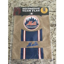 MLB Licensed New York Mets Double Sided 12.5 x 18 in. Burlap Garden Flag