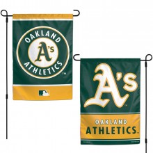"MLB Licensed Oakland Athletics Outdoor Decorative Foil 12.5"" x 18"" Garden Flag"
