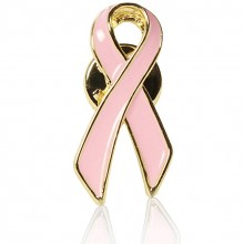 Breast Cancer Awareness Pink Ribbon Lapel Pin