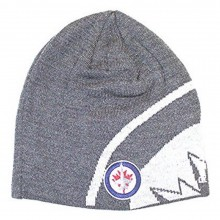 NHL Officially Licensed Winnipeg Jets Gray Uncuffed Embroidered Beanie