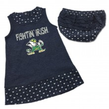 NCAA Licensed Notre Dame INFANT 2 Piece Dress and Bloomers Set
