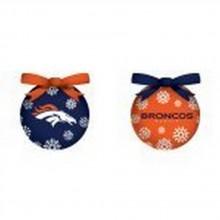 NFL Licensed Denver Broncos LED Light-up Ornament Set of 2