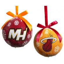 Miami Heat  LED Ball Ornaments Set of 6