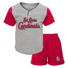 MLB Licensed St. Louis Cardinals INFANT Batting Practice 2 Piece Short Set