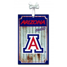 Arizona Wildcats Corrugated Metal Ornament