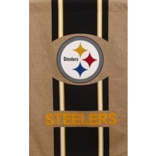 "NFL Licensed Burlap 28"" x 44"" House Flag (Pittsburgh Steelers)"