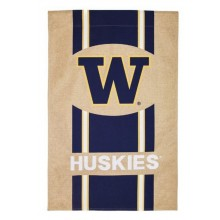 "NCAA Licensed University of Washington Huskies Burlap 28"" x 44"" House Flag"