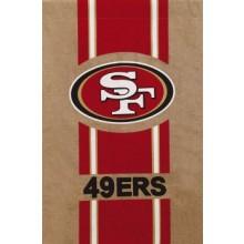 "NFL Licensed Burlap 28"" x 44"" House Flag (San Francisco 49ers)"